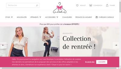 Site internet de Leaz Boutique
