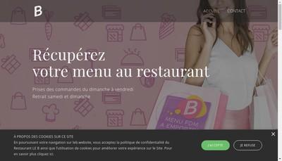 Site internet de Le B