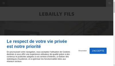 Site internet de Lebailly Isolation