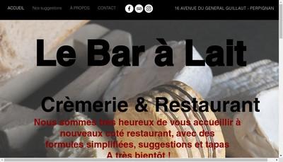 Site internet de Le Bar a Lait Restaurant Cremerie