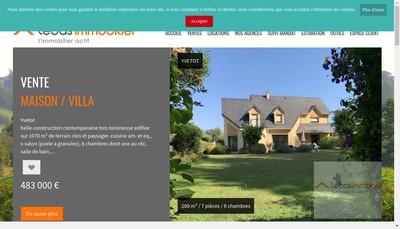 Site internet de Lebas Immobilier Cabinet Lebas Cabinet D Lebas