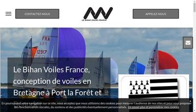 Site internet de Le Bihan Voiles France