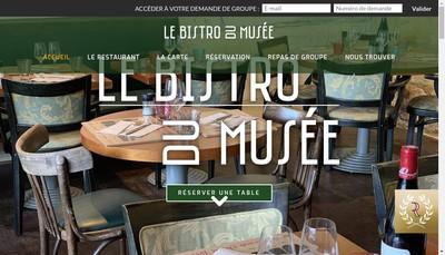 Site internet de Le Bistro du Musee