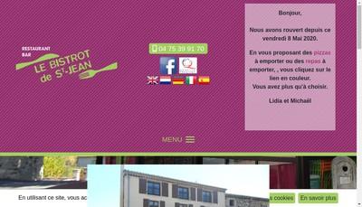 Site internet de Le Bistrot de Saint Jean