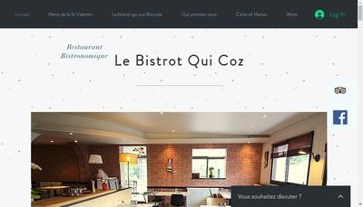 Site internet de Le Bistrot Qui Coz