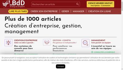 Site internet de Le blog du Dirigeant