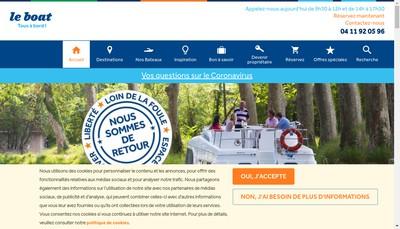 Site internet de Le Boat