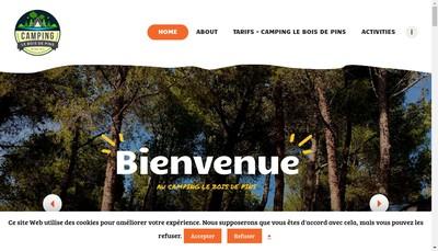 Site internet de Camping le Bois des Pins