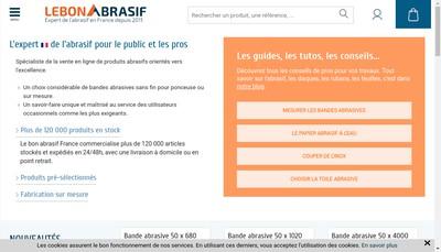 Site internet de Le Bon Abrasif