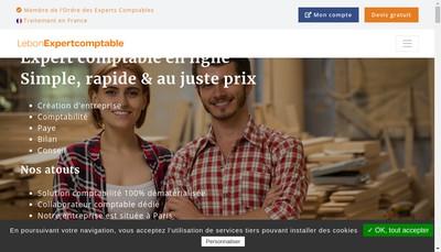 Site internet de LebonExpertcomptable