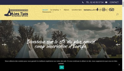 Site internet de Les Tipis du Bonheur de Vivre