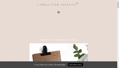 Site internet de L'Ebullition Creative