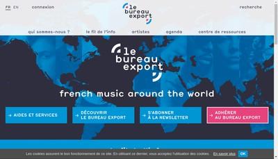 Site internet de Bureau Export de la Musique Francaise