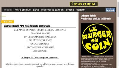 Site internet de Le Burger du Coin