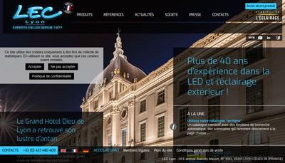 Site internet de LEC Societe Lyonnaise d'Equipement et de Controle