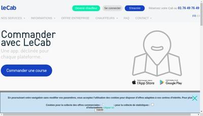 Site internet de Le Cab