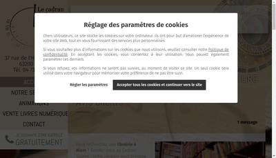 Site internet de Le Cadran Solaire Librairie