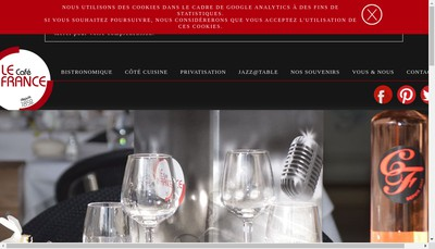 Site internet de Cafe de France