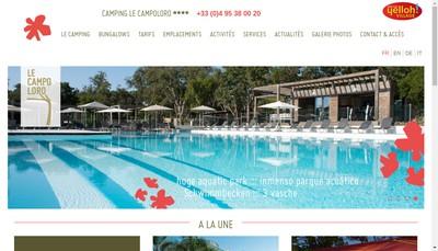 Site internet de Cervione Vacances le Campoloro