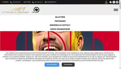 Site internet de Societe d'Exploitation du Parc des Expositions le Capitole