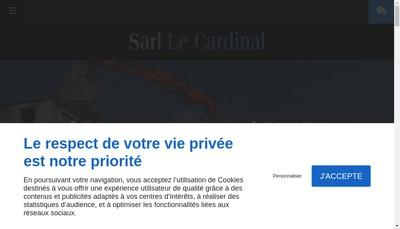Site internet de SARL le Cardinal