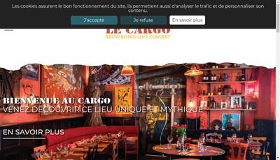Site internet de Le Cargo