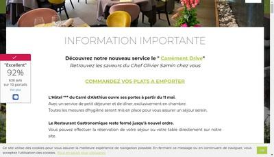 Site internet de Le Carre d'Alethius