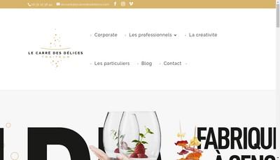 Site internet de Le Carre des Delices