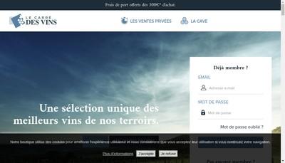Site internet de Le Carre des Vins