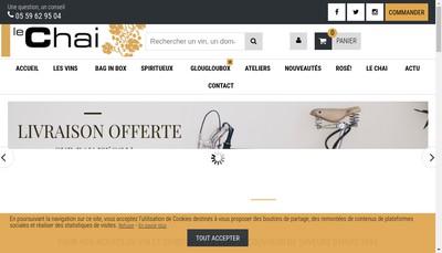 Site internet de Le Chai