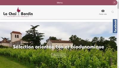 Site internet de Le Chai Bordin