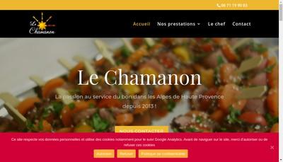 Site internet de Le Chamanon SARL