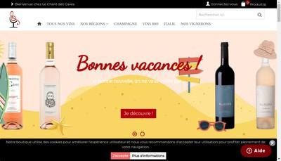 Site internet de Le Chant des Caves