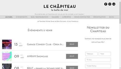 Site internet de Le Chapiteau