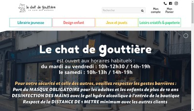 Site internet de Le Chat de Gouttiere