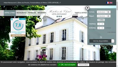 Site internet de Hostellerie le Chatel