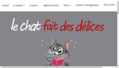 Site internet de Le Chat Fait des Delices