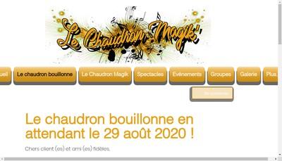 Site internet de Le Chaudron Magik