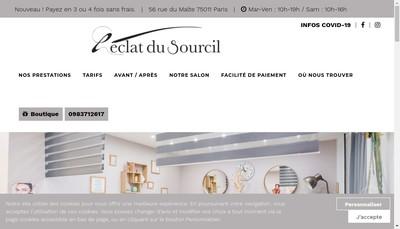 Site internet de L'Eclat du Sourcil