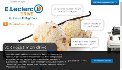 Site internet de E Leclerc