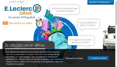 Site internet de Leclerc Drive