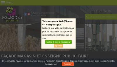 Site internet de Leclercq Publicite