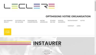 Site internet de Leclere