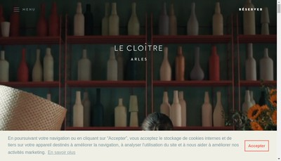 Site internet de Hotel du Cloitre