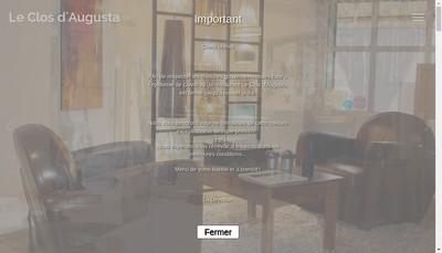 Site internet de Le Clos d'Augusta