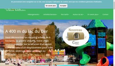 Site internet de Le Clos du Vieux Moulin