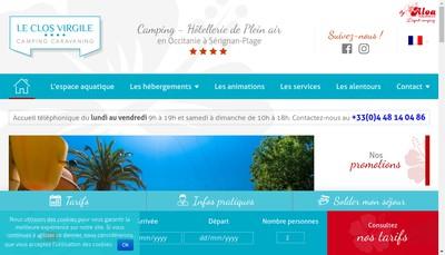 Site internet de Camping le Clos Virgile
