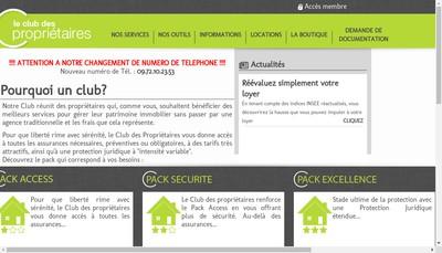 Site internet de Le Club des Proprietaires