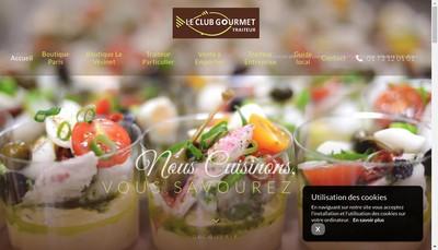 Site internet de Le Club Gourmet