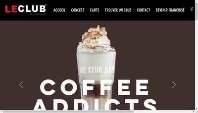 Site internet de Le Club Sandwich Cafe